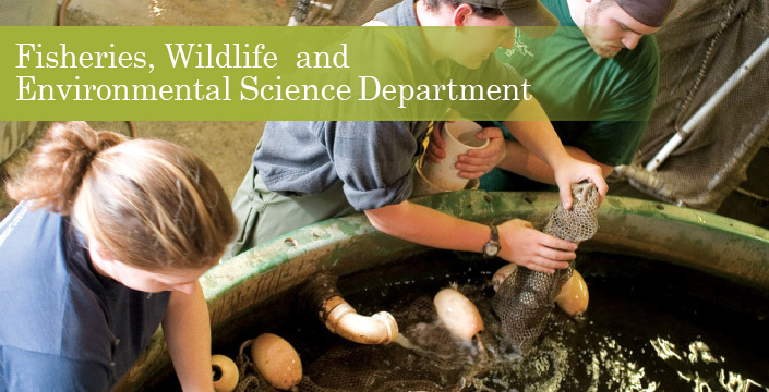 fisheries wildlife environmental studies department