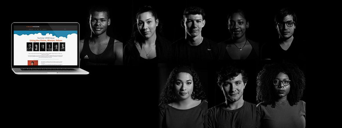 students portraits on a black backdrop