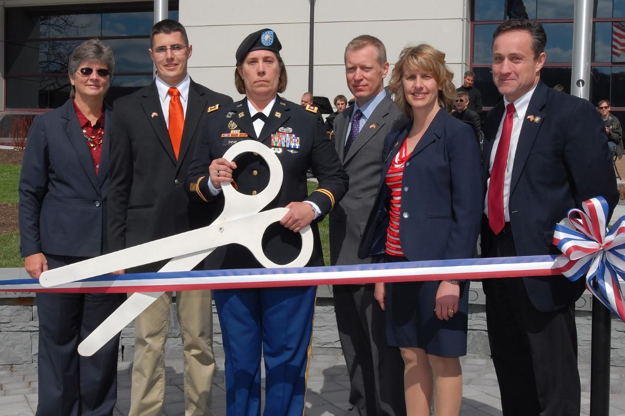 SUNY Cobleskill Veteran's Memorial Ribbon Cutting