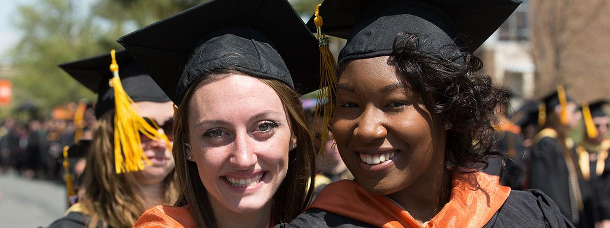 2 female graduates