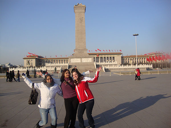 Students in Tiananmen Square, Beijing, China