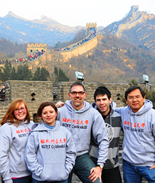 SUNY Cobleskill Students, Faculty, & Staff at the Great Wall of China