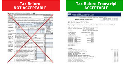 Tax Return vs. Tax Return Transcript
