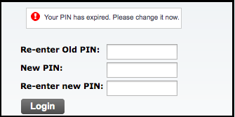 change pin screenshot