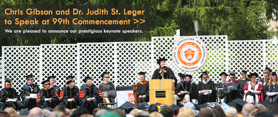 Chris Gibson and Dr. Judith St. Leger to speak at 99th Commencement