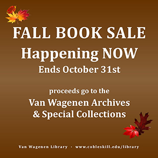 Fall Booksale is happening now through October 31 with proceeds towards the Archives and Special Collections